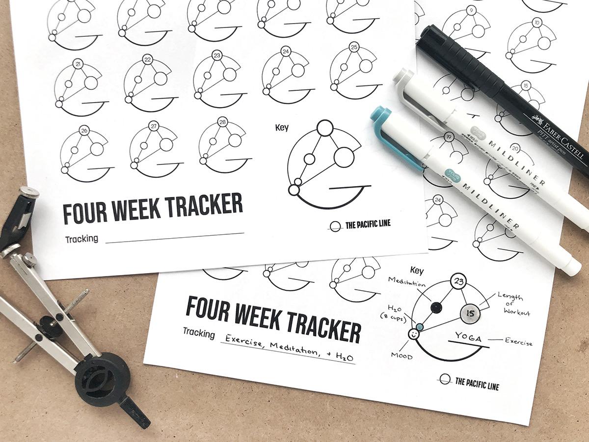 Free Printable - Circles Habit Tracker